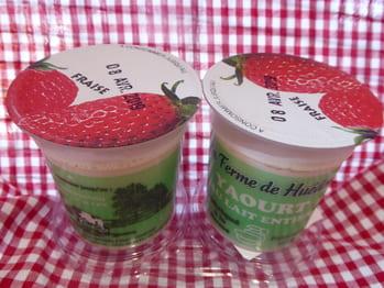 Yaourt fraises au lait entier x2
