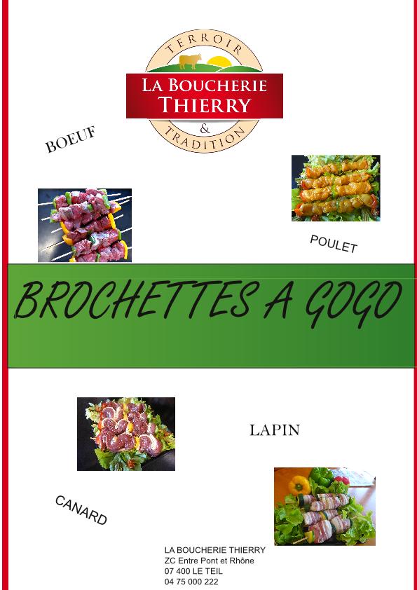 Affiche pub brochettes